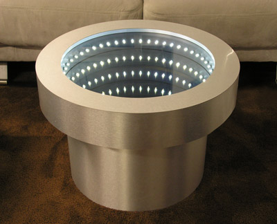 Round Infinity Mirror Table
