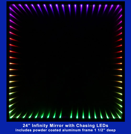 24 inch Infinity Mirror with aluminum frame