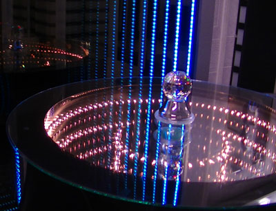 Bar Height Infinity Mirror Table
