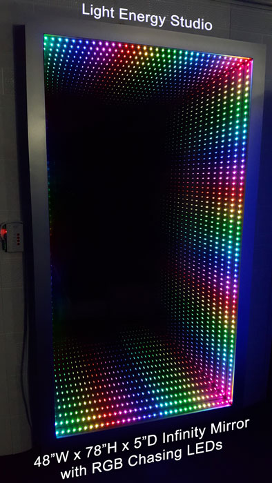 Infinity Mirror with RGB Chasing LEDs