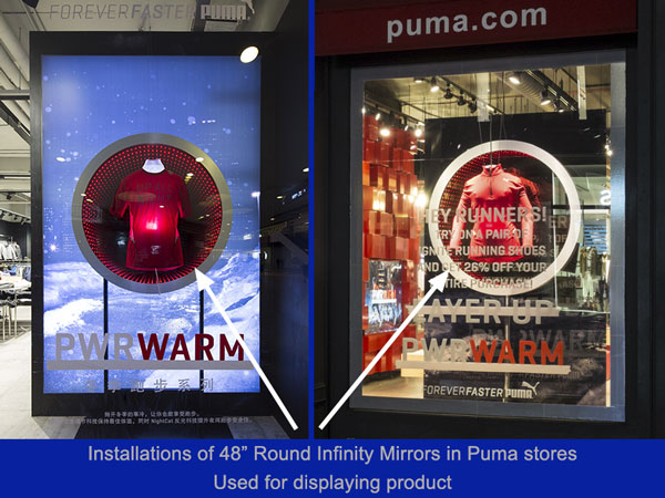Infinity Mirror installation for Puma stores